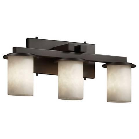 "Clouds™ Dakota 21""W Bronze 3-Light Straight-Bar Bath Light"