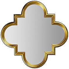 """Cooper Classics Canute Gold 32 1/4"""" x 32 1/4"""" Wall Mirror"""