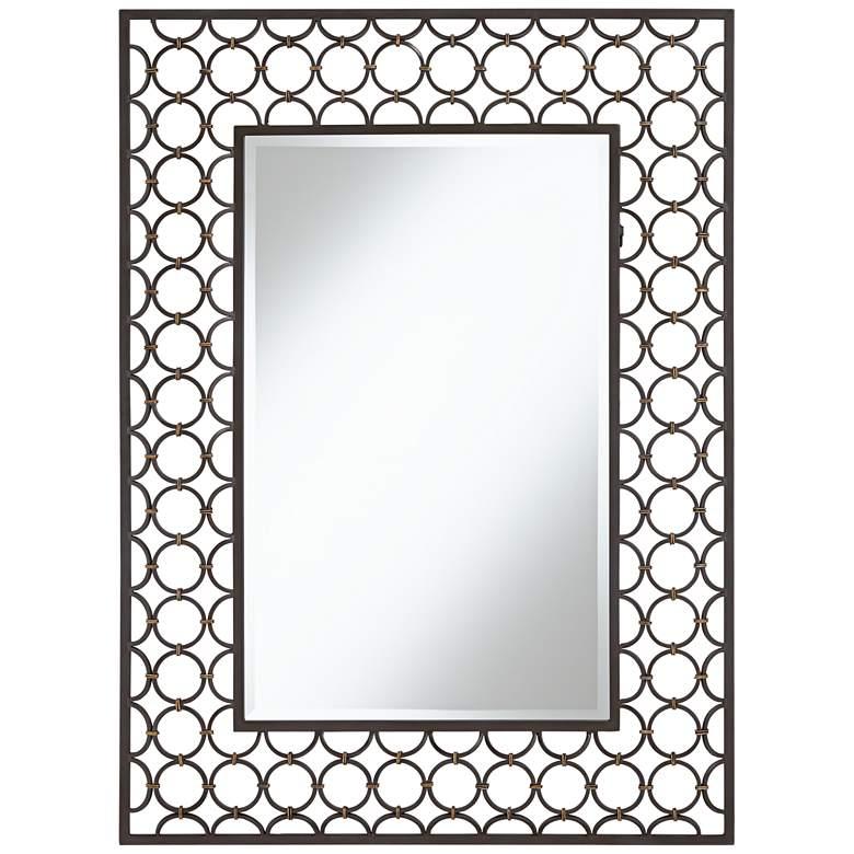 "Uttermost Halo Grayed Bronze 30"" x 40 1/4"" Wall Mirror"