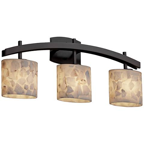"Archway 25 1/2"" Wide Bronze Bath Light with Oval Shades"