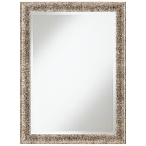 "Uttermost Cortlane Silver Line 30"" x 40"" Wall Mirror"