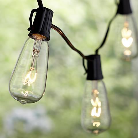 11-Light Ella Clear Edison Vintage Outdoor String Light Set