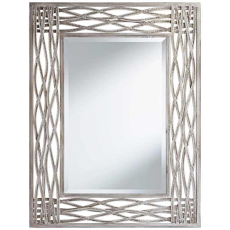 "Athens Antique Silver Leaf 32"" x 42"" Wall Mirror"
