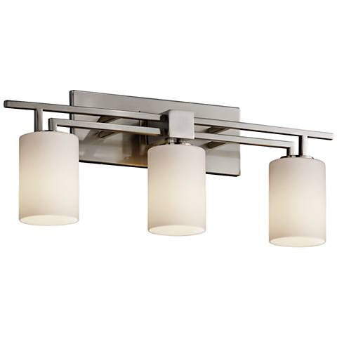 "Fusion™ Aero 26"" Wide Brushed Nickel 3-Light Bath Light"