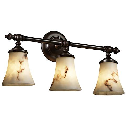 "LumenAria™ Tradition 22 3/4""W Bronze 3-Light Bath Light"