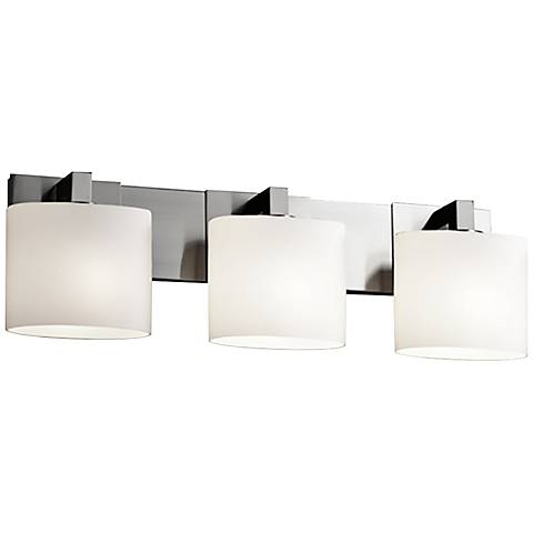 "Fusion™ Modular 28"" Wide Brushed Nickel 3-Light Bath Light"