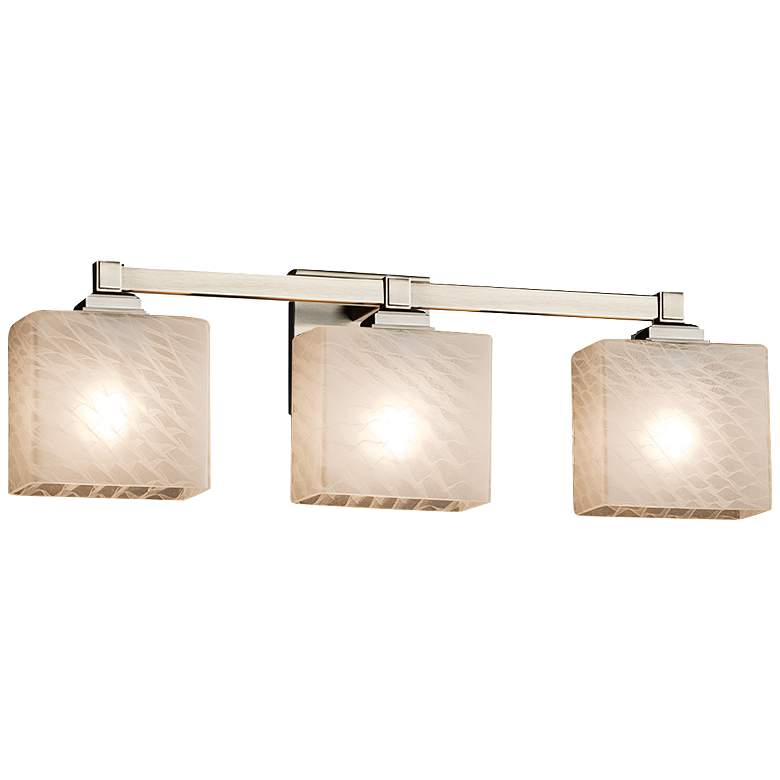 "Fusion Regency 23 1/2""W Brushed Nickel 3-Light Bath Light"