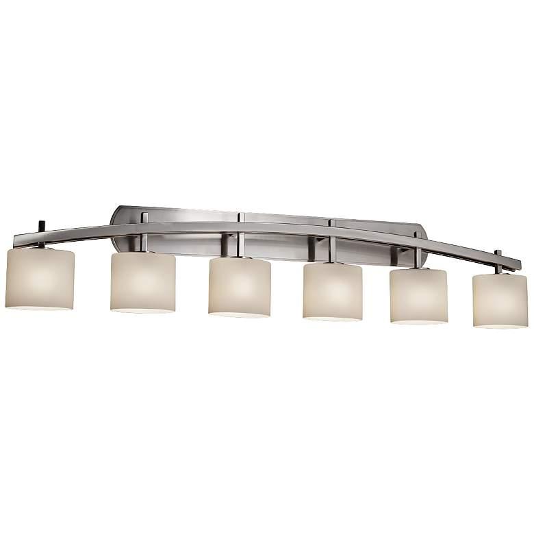 "Fusion Archway 56 1/2""W Brushed Nickel 6-Light Bath Light"