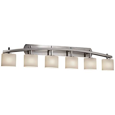 "Fusion™ Archway 56 1/2""W Brushed Nickel 6-Light Bath Light"