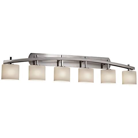Fusion Archway 56 1 2 W Brushed Nickel 6 Light Bath
