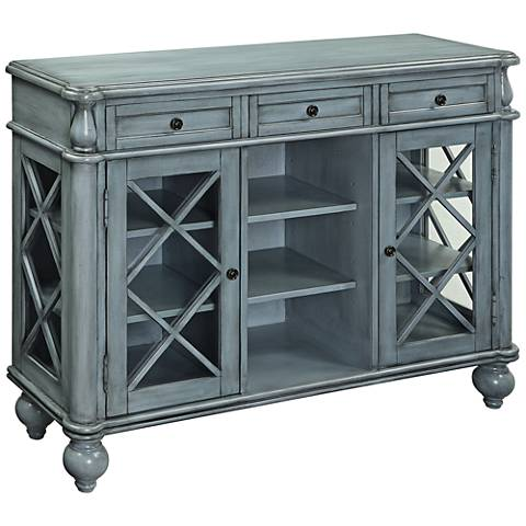 Dayna Mabry Mill Blue Wood 3-Drawer 2-Door Credenza