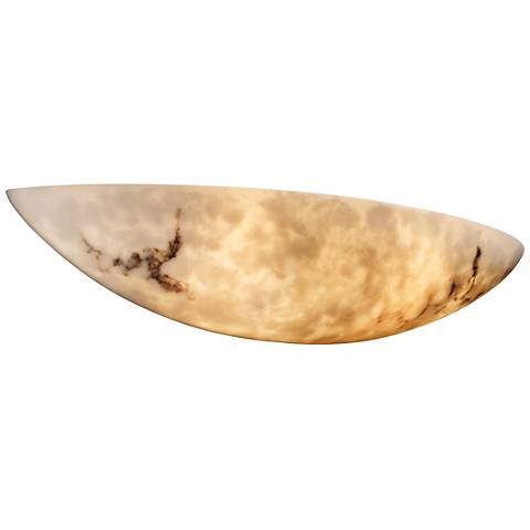 "LumenAria™ 5"" High Faux Alabaster Large Sliver Wall Sconce"