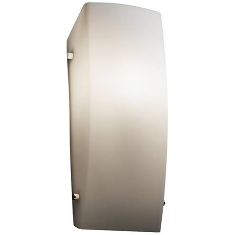"Fusion™ 14"" High Opal Glass Rectangular Wall Sconce"