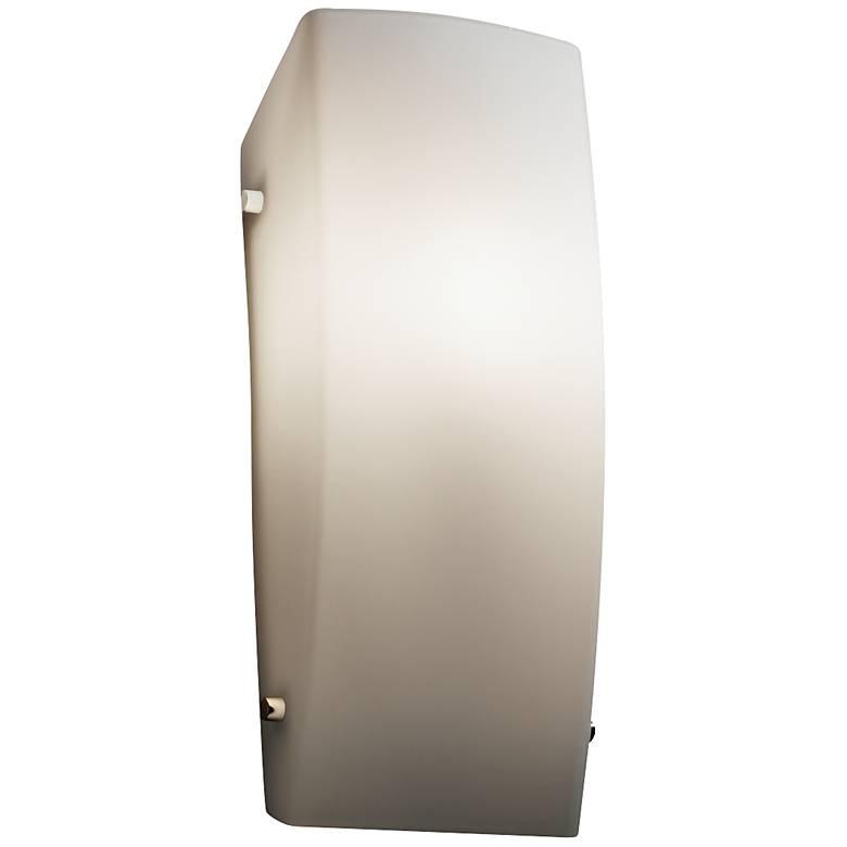 "Fusion™ 14"" High Opal Glass Rectangular Wall Sconce"