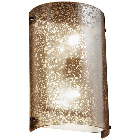 """Fusion™ 12 1/2""""H Mercury Glass Finials Cylinder Wall Sconce"""