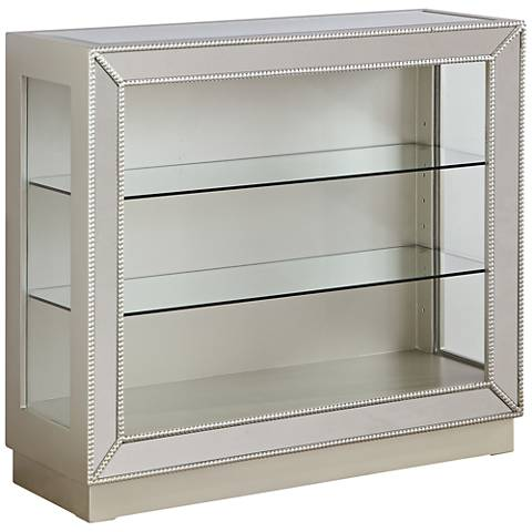 Zoey Elsinore Champagne Mirrored Curio Cabinet