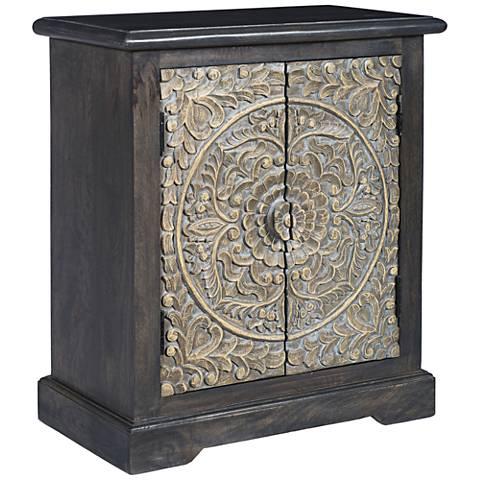 Lindsay Colony Dark Gray 2-Door Accent Cabinet