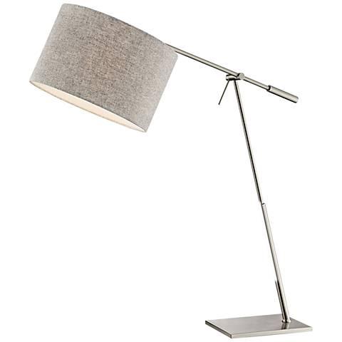 Lite Source Lucilla Brushed Nickel Desk Lamp