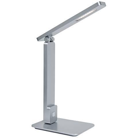 Lite Source Echo Silver LED Desk Lamp