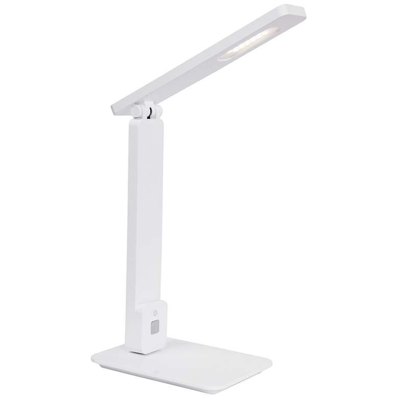 Lite Source Echo White LED Desk Lamp