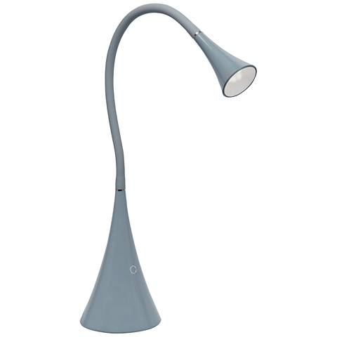 Lite Source Xena Gray LED Desk Lamp