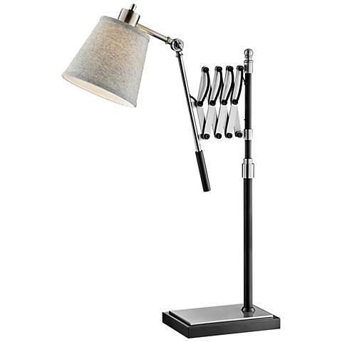 Lite Source Caprilla Brushed Nickel Extendable Desk Lamp