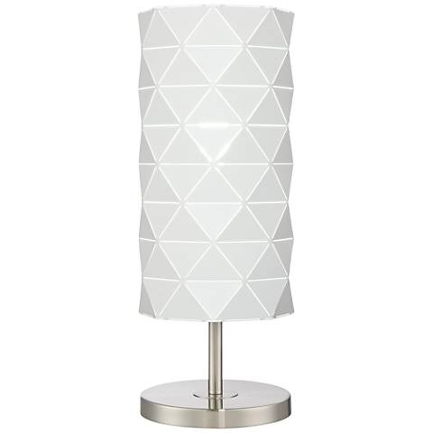 Lite Source Pandora Brushed Nickel Uplight Accent Table Lamp