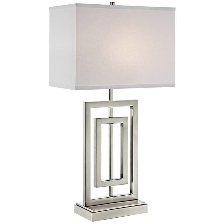 Lite Source Bensky Narrow Brushed Nickel Table Lamp