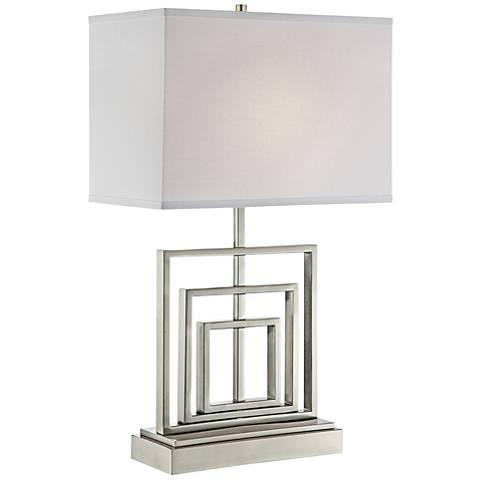 Lite Source Bensky Wide Brushed Nickel Table Lamp
