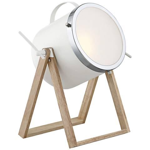 Lite Source Sully Matte White Desk Lamp