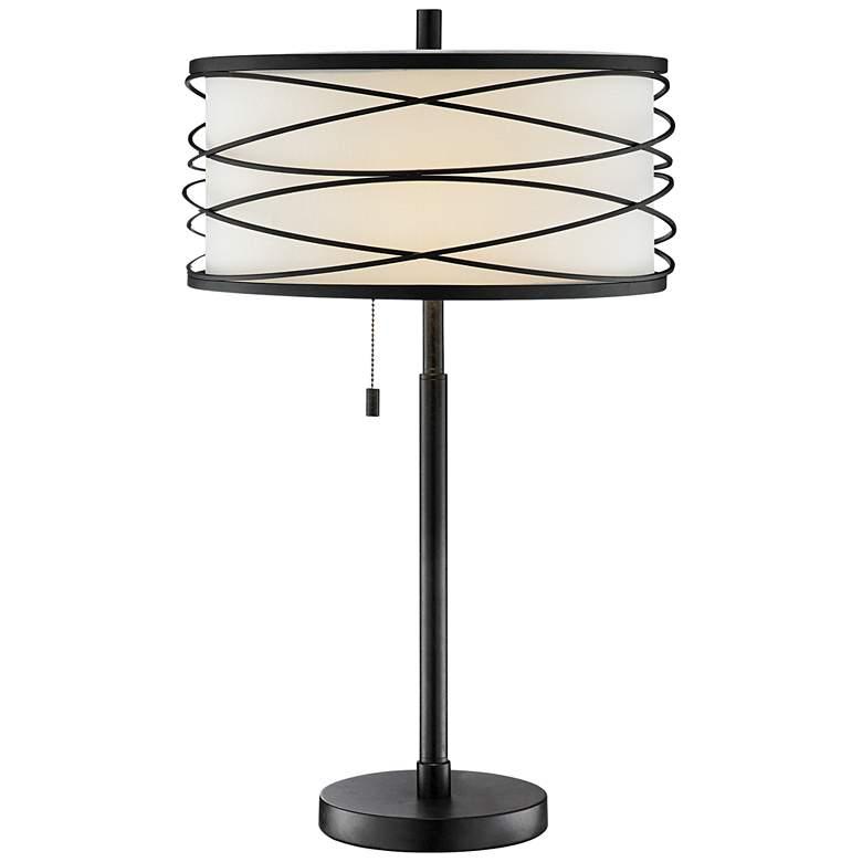 Lite Source Lumiere Black Metal Table Lamp