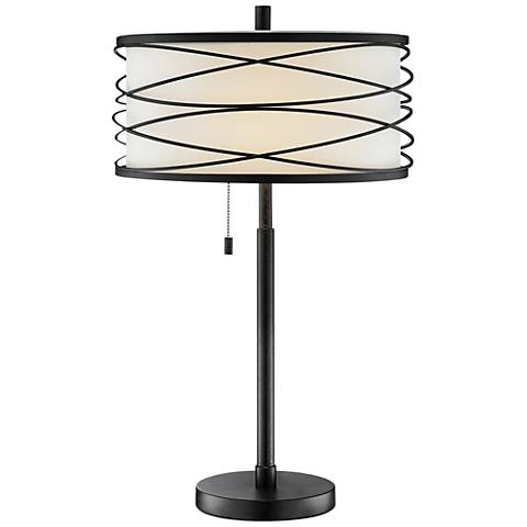 Lite Source Lumiere Black Metal Table Lamp
