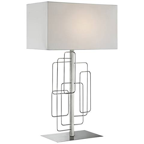 Lite Source Fayth Brushed Nickel Table Lamp