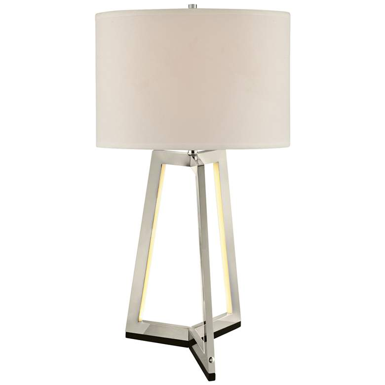 Lite Source Pax Chrome Table Lamp with LED Night Light