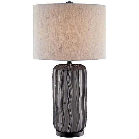Lite Source Cacto Aged Gunmetal Ceramic Table Lamp
