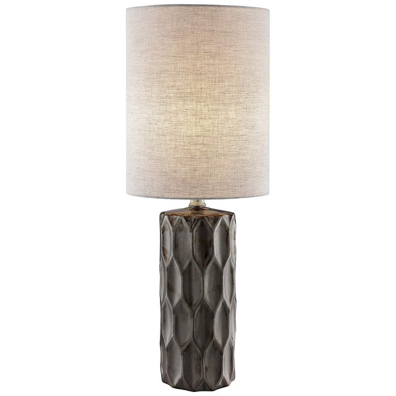 Lite Source Halsey Gunmetal Ceramic Table Lamp
