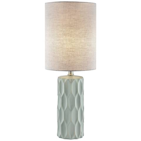 Lite Source Halsey Light Gray Ceramic Table Lamp