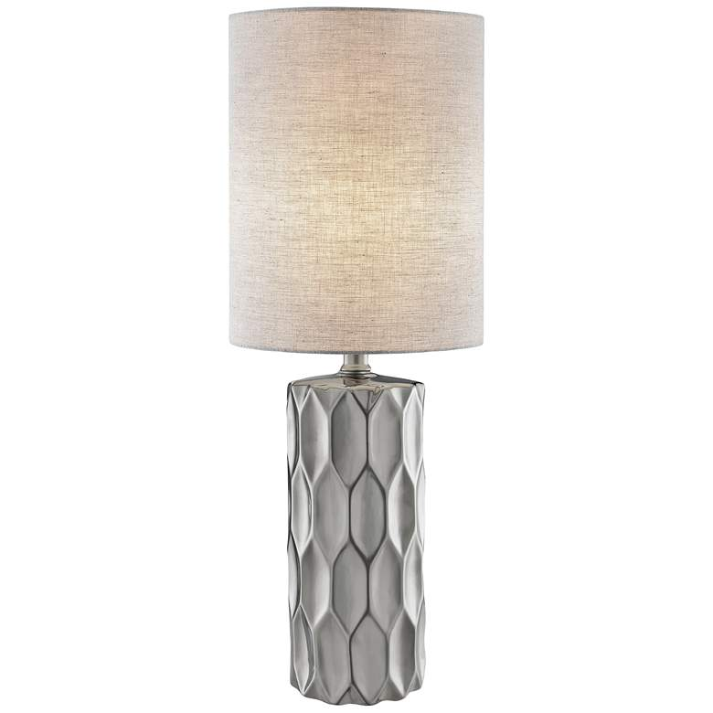 Lite Source Halsey Silver Ceramic Table Lamp