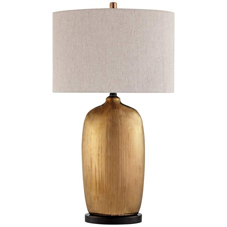 Lite Source Mateo Aged Copper Ceramic Table Lamp