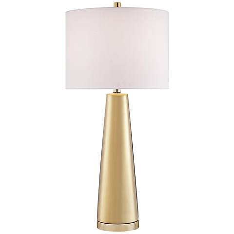 Lite Source Tyrone Light Gold Ceramic Table Lamp