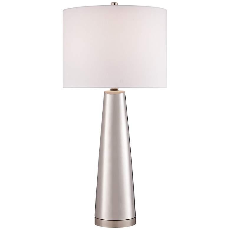 Lite Source Tyrone Silver Ceramic Table Lamp