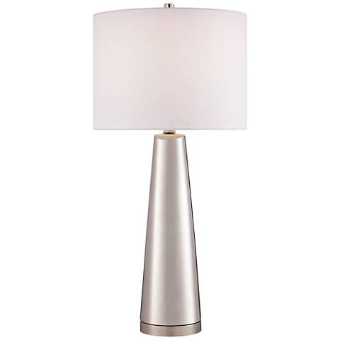 Lite Source Tyrone Silver Ceramic Table Lamp