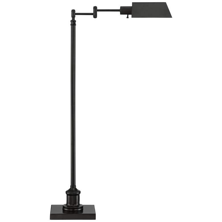 Jenson Dark Bronze Adjustable Pharmacy Floor Lamp