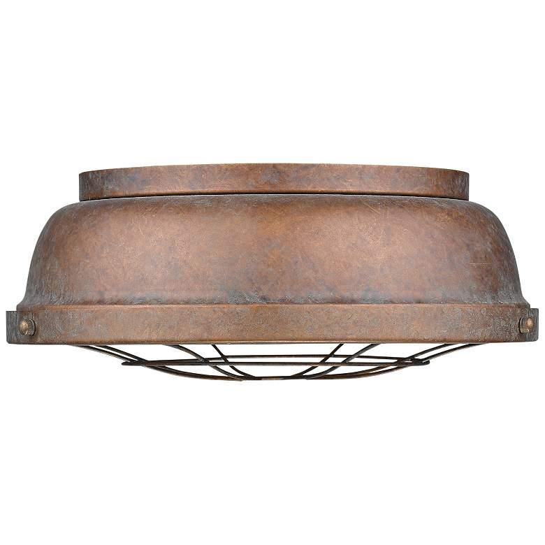 "Bartlett 14"" Wide Copper Patina Ceiling Light"