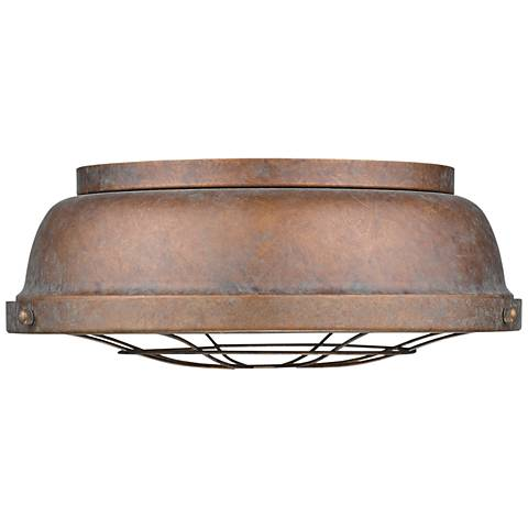 "Bartlett 14"" Wide Copper Patina Ceiling Light"
