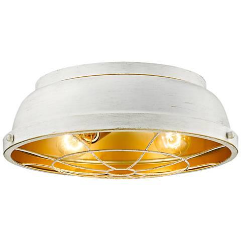 """Bartlett 14"""" Wide French White Ceiling Light"""
