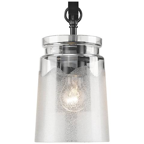 """Travers 10 1/2"""" High Black Wall Sconce"""