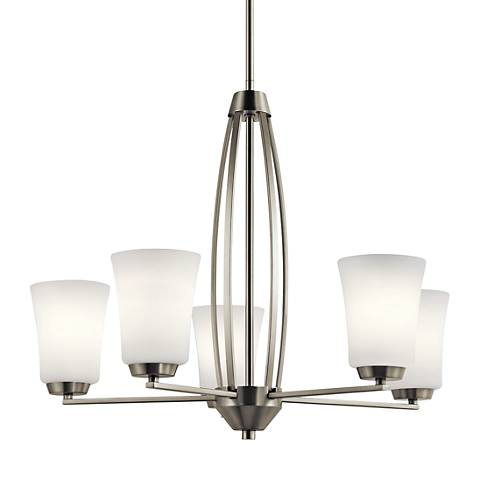 "Kichler Tao 25 1/4"" Wide Brushed Nickel 5-Light Chandelier"