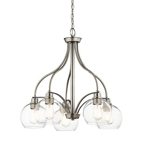 "Kichler Harmony 26"" Wide Brushed Nickel 5-Light Chandelier"