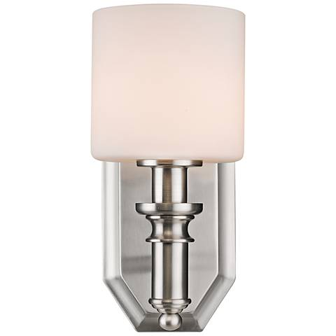 "Beckford 10 1/2"" High Pewter Wall Sconce"